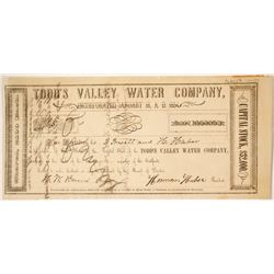 Todd's Valley Water Company Stock   (85241)