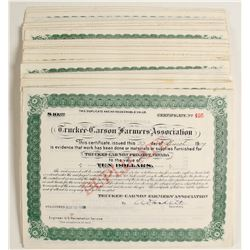 Truckee-Carson Farmer's Association Stock Certificates (100)   (79066)