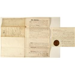 Central Pacific Railroad Deed Signed by Leland Stanford   (78353)