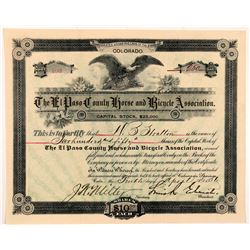 El Paso County Horse & Bicycle Association Stock Certificate   (104348)