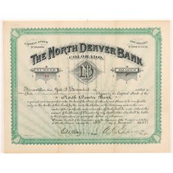 North Denver Bank Stock Certificate   (107185)