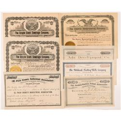 Colorado Non-Mining Stock Certificates    (104351)
