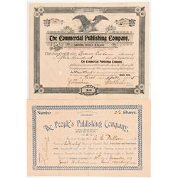 Two Colorado Publishing Stock Certificates   (104352)