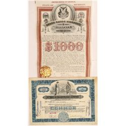 Michigan Water Bond & Stock Certificate   (104208)