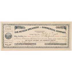 Nevada Creamery & Commercial Co. Stock Certificate   (103476)