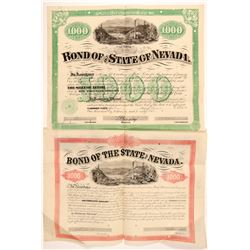 Two Early Nevada Bonds (Blasdel and Bradley Signatures)   (104479)