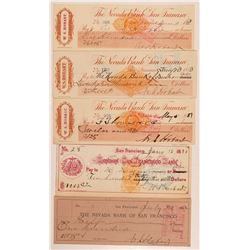 WS Hobart Check Collection (Comstock & Tahoe Lumber Baron)   (107388)