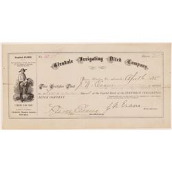 Glendale Irrigating Ditch Company Stock Certificate   (107012)