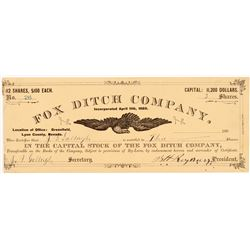 Fox Ditch Company Stock Certificate   (107007)