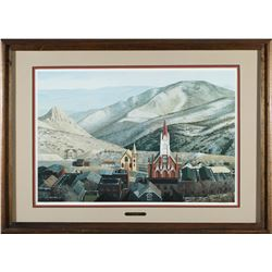 Framed Virginia City, NV Print by Moore   (87653)