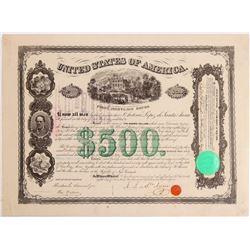 Santa Anna Autographed U.S. Bond   (106422)