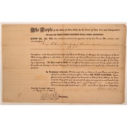DeWitt Clinton Signature 1: Appointment of Commissioner of Mortgages   (104502)