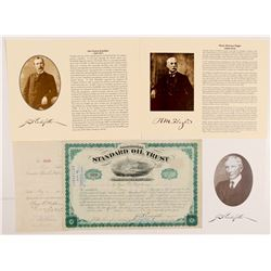 Standard Oil Trust Stock Certificate Signed by JD Rockefeller   (106431)