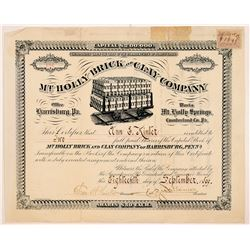 Mt. Holly Brick and Clay Company stock   (104024)