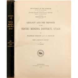 Tintic Mining District, Utah, Geology Survey   (105744)