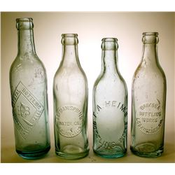 Soda Bottles / Los Angeles / 4 Items.   (89554)