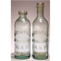 Watsonville Bottling Works. ( 2 Items )    (77419)