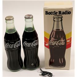"Coca Cola Bottle / "" Radio Bottle ""  / 2 items   (102154)"