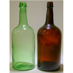 Whiskey Bottles/ DemiJohns / 2 items   (100599)