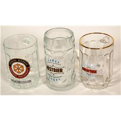 Beer Steins / German / 3 Items.   (89532)