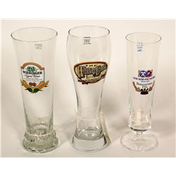 Beer Glasses / Germany & California / 3 Items.    (89526)