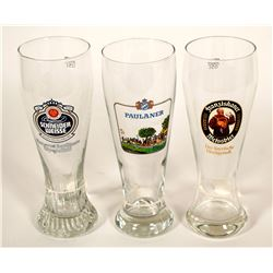 Beer Glasses / German / 3 Items.    (89525)