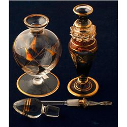 Two Handblown Perfume Bottles   (76369)