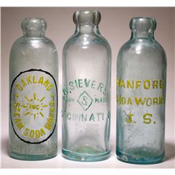 Oakland Steam , W. Sievers, and Hanford Soda Works. ( 3 Items )    (77437)