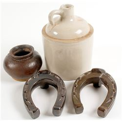 Whiskey Items and Chinese Pot/ 4 Items   (78823)