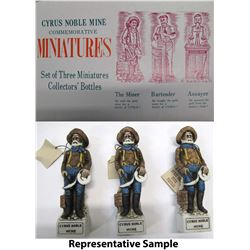 Cyrus Noble Miner's Miniature Decanters from McGill Club, NV   (62113)