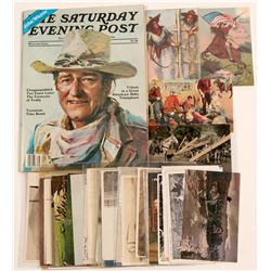 Cowboy Postcards and John Wayne Ephemera   (105425)