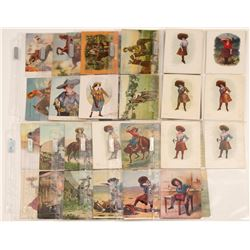 Cowgirl Comic Cards   (105091)