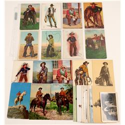 Posed Cowboy Postcards   (104957)