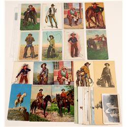 Posed Cowboy Postcards   (104957)