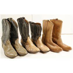 Vintage Mens Cowboy Boots (3)   (87344)