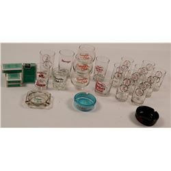 Nevada Casino Glasses and Ashtrays   (106556)