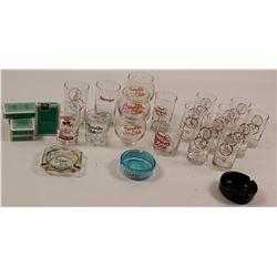 Nevada Casino Glasses and Ashtrays   (106556)