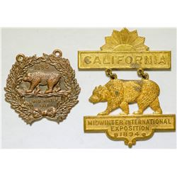 Two Mid Winter Fair Medals   (102847)