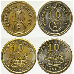 Tokens / From Michigan /  2 Items .   (102156)