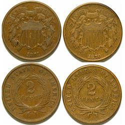 2 Cent Coins / 2 Pieces.   (105058)