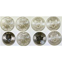 Silver Bullion Pieces / USA & Canada /  4 Items   (105046)