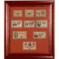 Framed Fractional Currency Collection   (108120)