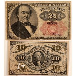 Paper Money / Fractional Currency/ 2 Items.   (105059)