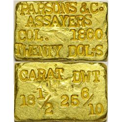 "Parsons Gold Ingot, One of the ""Original Four""   (108011)"