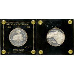 Nevada Centennial Silver Medal   (105261)