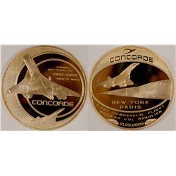 American Mint Concorde Las Flight Medal   (106210)