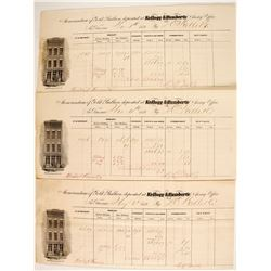 Kellogg & Humbert, Three Bullion Assays, 1859   (88842)