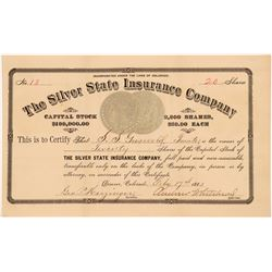 Silver State Insurance Co. Stock Certificate w/ Morgan Dollar Vignettes   (104312)