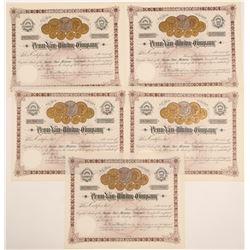 Penn Yan Mining Stocks (5)   (105480)