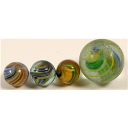 "Marbles / Ribbon Core & "" Pee Wee"" Swirls / 2 Items.     (108079)"